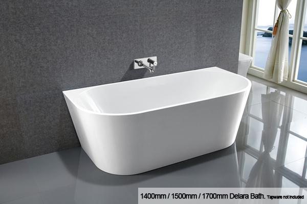 Delara back to wall bath
