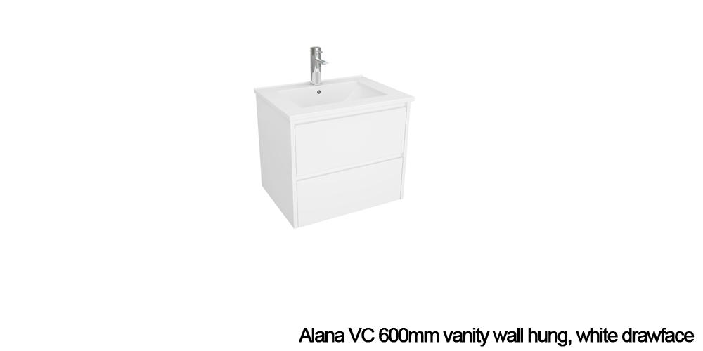 Alana Vc Vanity Duraplex, Mode Austin White Wall Hung Vanity Unit And Basin 600mm