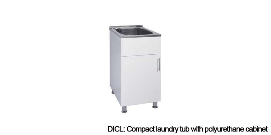 Polyurethane cabinet laundry tubs