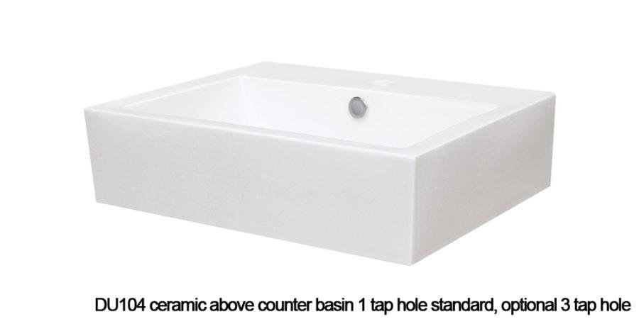 DU104 above counter basin