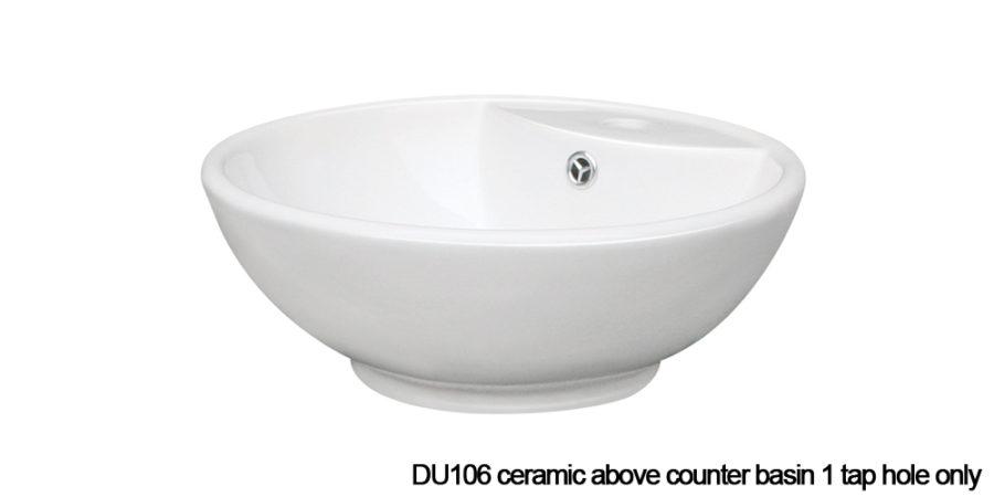 DU106 above counter basin