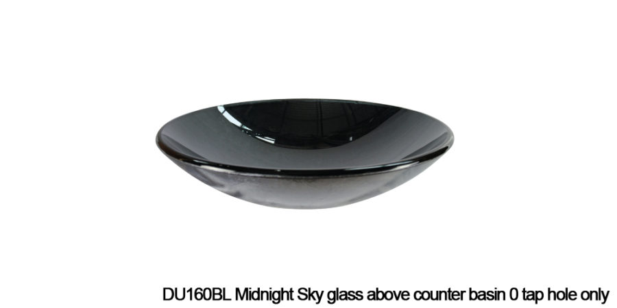 DU160BL Midnight Sky above counter glass basin