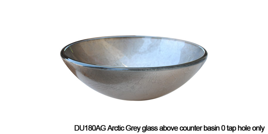 DU180AG Arctic Grey above counter glass basin