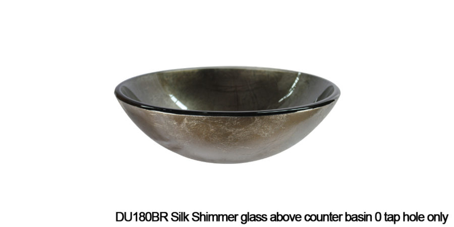 DU180BR Sunstone above counter glass basin