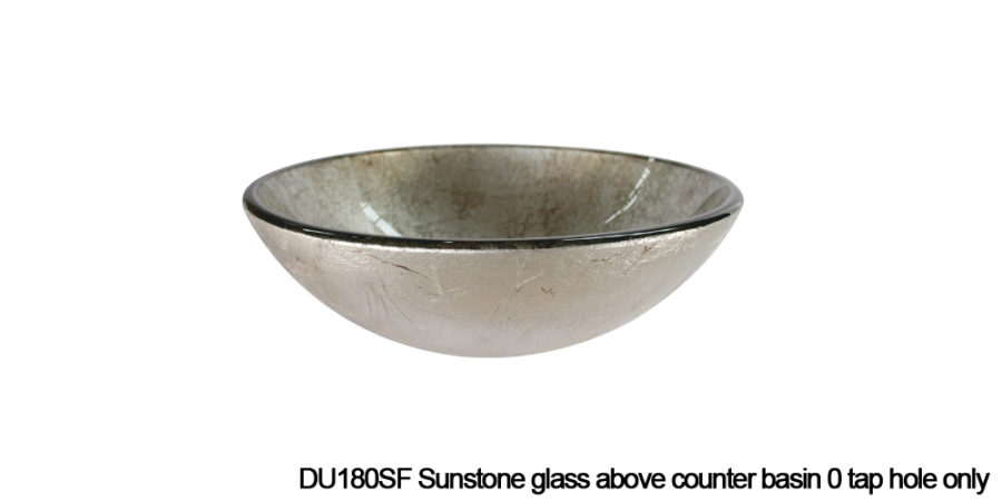 DU180SF Sunstone above counter glass basin