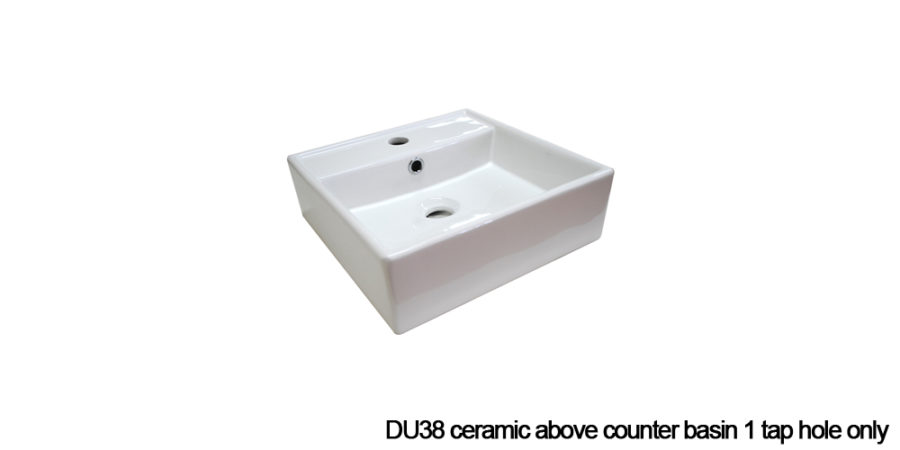 DU38 above counter basin