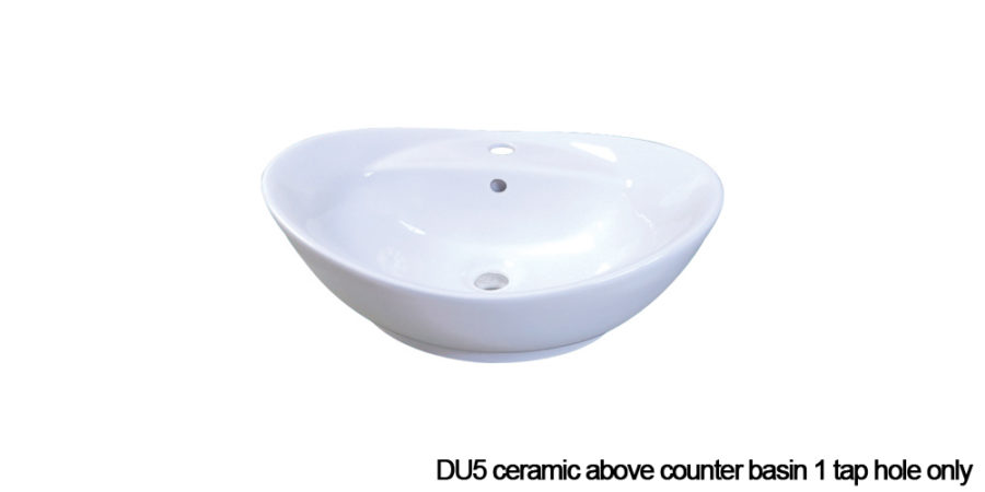 DU5 above counter basin