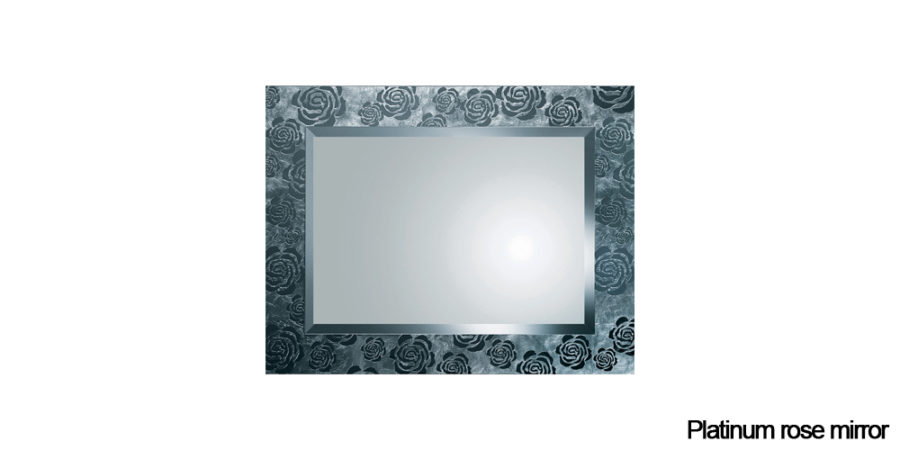 Platinum rose mirror