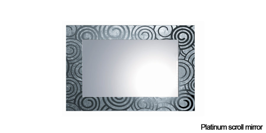 Platinum scroll mirror