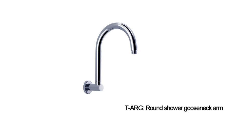 Round shower arm chrome