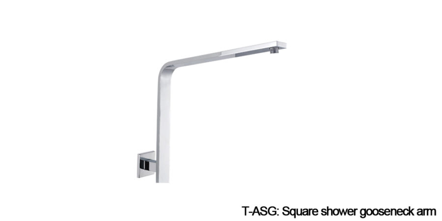 Square shower arm chrome