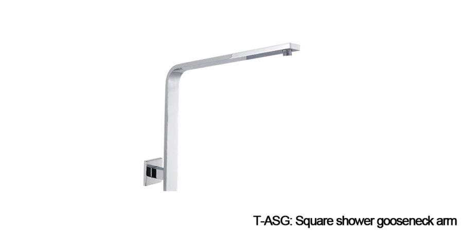 Square shower arm chrome