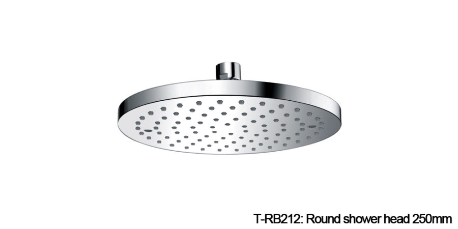 Round shower head chrome