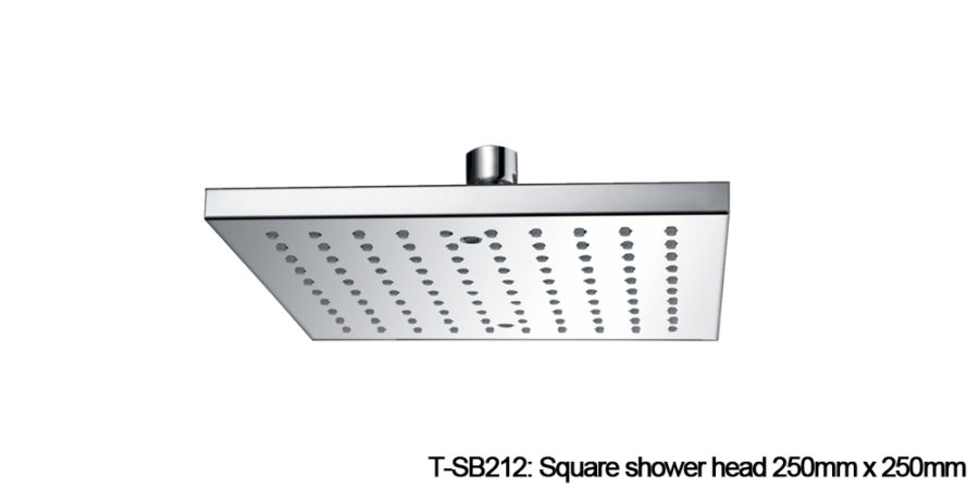 Square shower head chrome