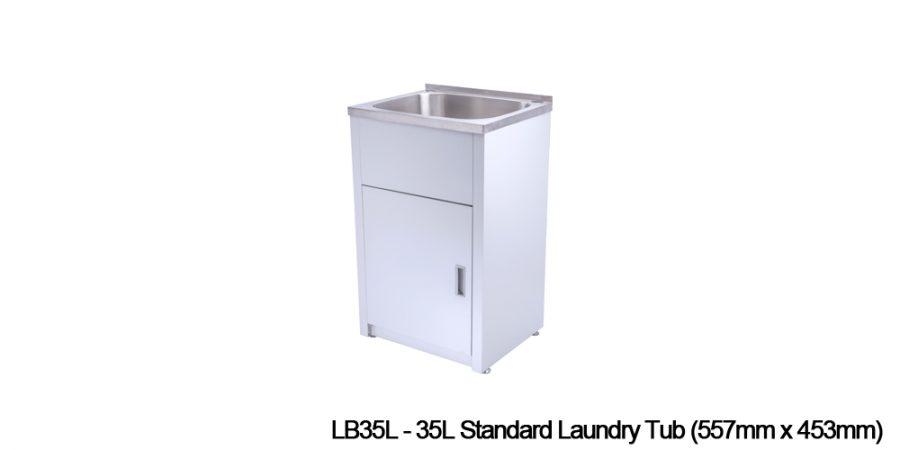 Metal laundry tubs